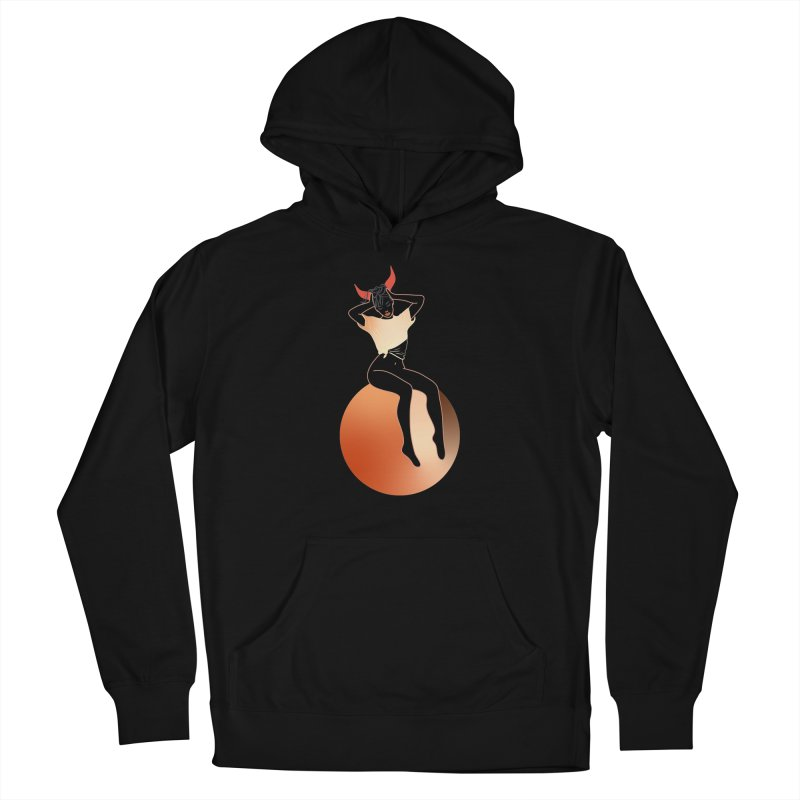 Wicked Girl Men's French Terry Pullover Hoody by gelso's Artist Shop