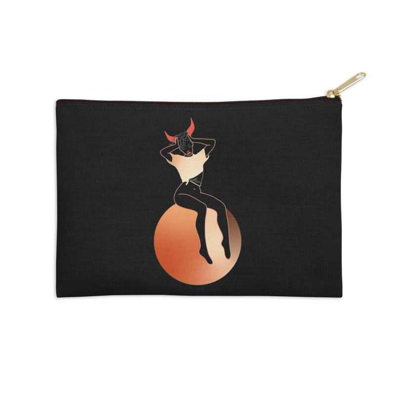 Wicked Girl Accessories Zip Pouch by gelso's Artist Shop