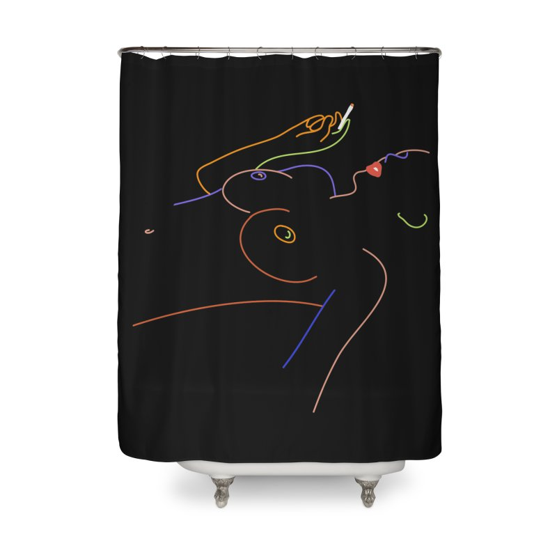 Patient Girl Home Shower Curtain by gelso's Artist Shop