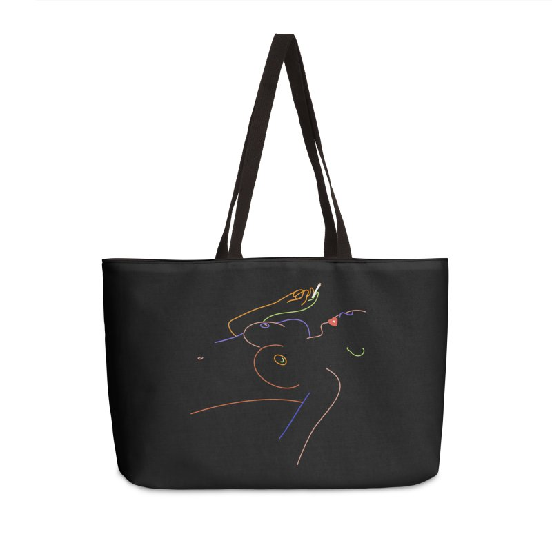 Patient Girl Accessories Weekender Bag Bag by gelso's Artist Shop