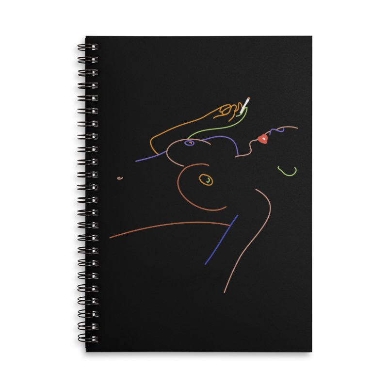 Patient Girl Accessories Lined Spiral Notebook by gelso's Artist Shop