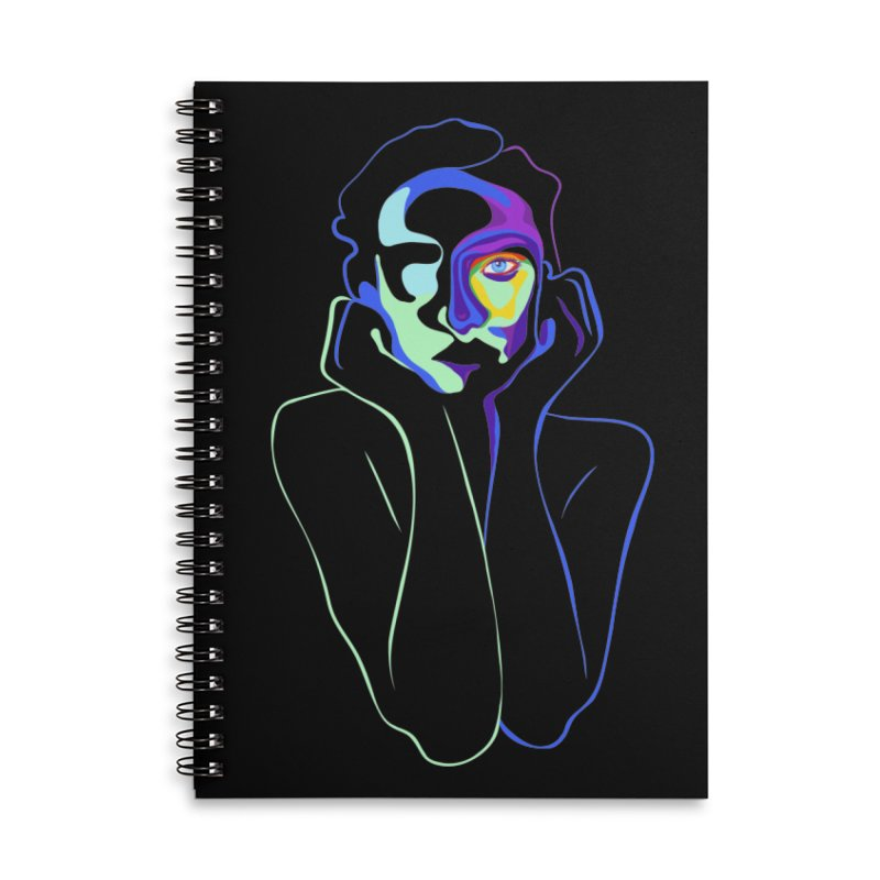 Sea Girl Accessories Lined Spiral Notebook by gelso's Artist Shop
