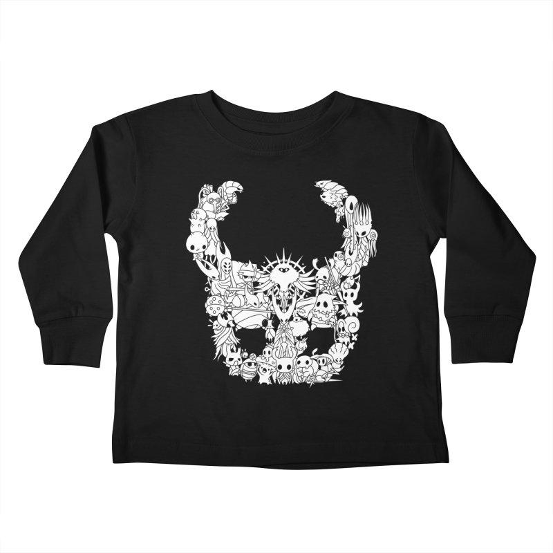 Hollow Knight: Inhabitants of Hollownest Kids Toddler Longsleeve T-Shirt by genemutation's Artist Shop