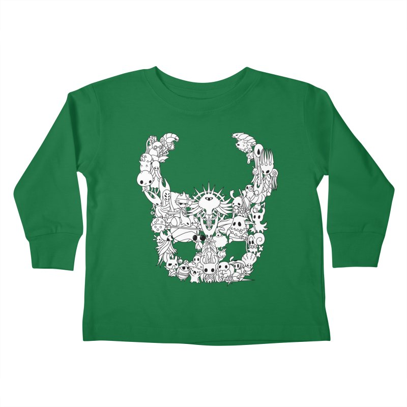 Hollow Knight: Inhabitants of Hollownest Kids Toddler Longsleeve T-Shirt by genemutation's Artist Shop