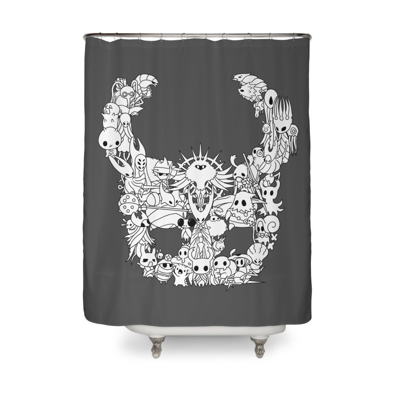 Hollow Knight: Inhabitants of Hollownest Home Shower Curtain by genemutation's Artist Shop