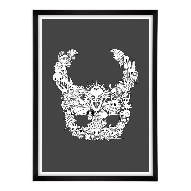 Hollow Knight: Inhabitants of Hollownest Home Framed Fine Art Print by genemutation's Artist Shop