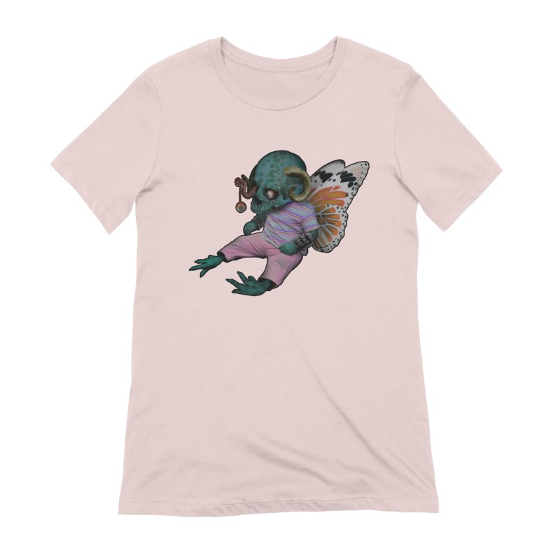Butterfly Baby Women's Extra Soft T-Shirt by genemutation's Artist Shop