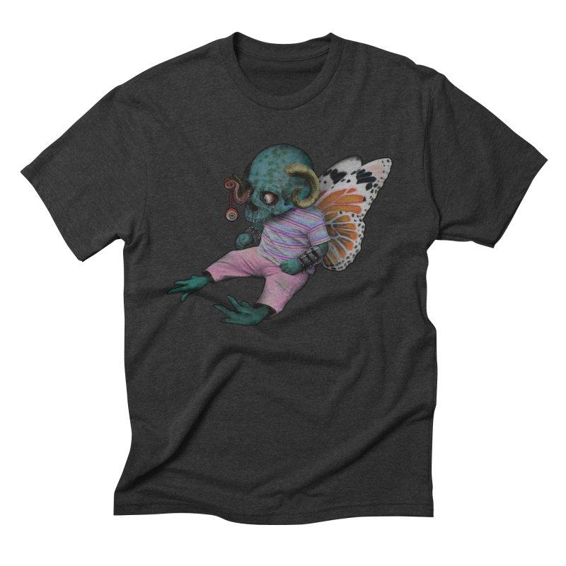 Butterfly Baby Men's Triblend T-Shirt by genemutation's Artist Shop