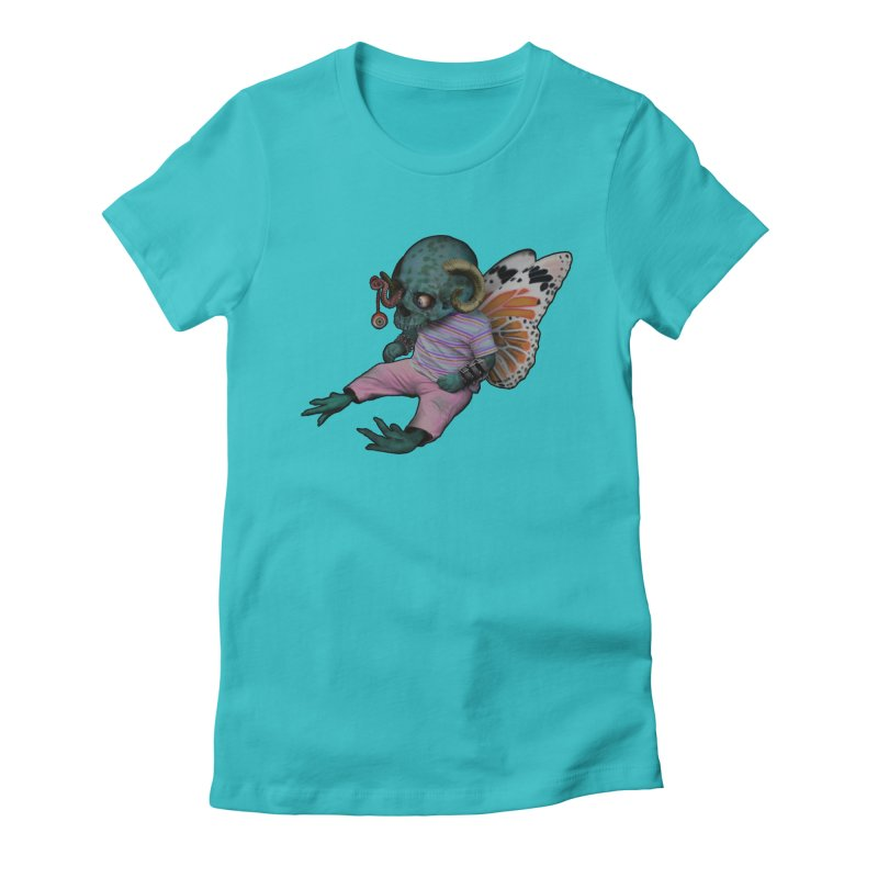Butterfly Baby Women's Fitted T-Shirt by genemutation's Artist Shop