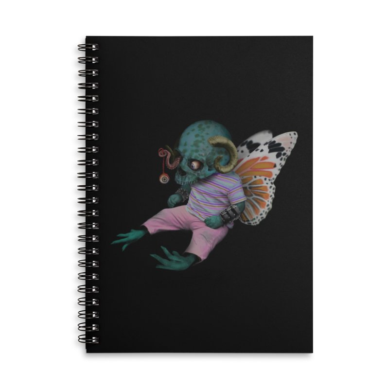 Butterfly Baby Accessories Lined Spiral Notebook by genemutation's Artist Shop