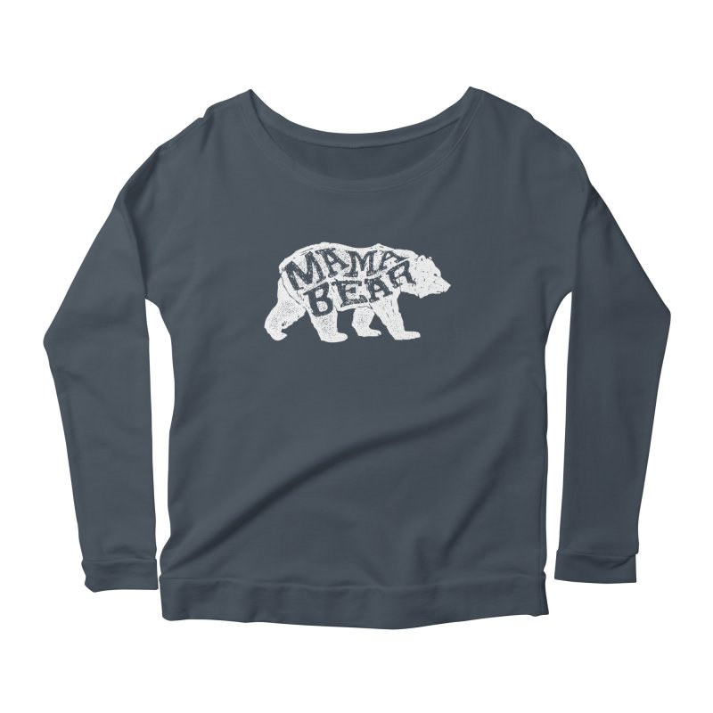 Mama Bear New Mom's Expecting Mother's  Women's Longsleeve Scoopneck  by generalrepublic's Artist Shop