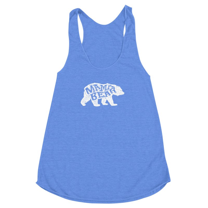 Mama Bear New Mom's Expecting Mother's  Women's Racerback Triblend Tank by generalrepublic's Artist Shop