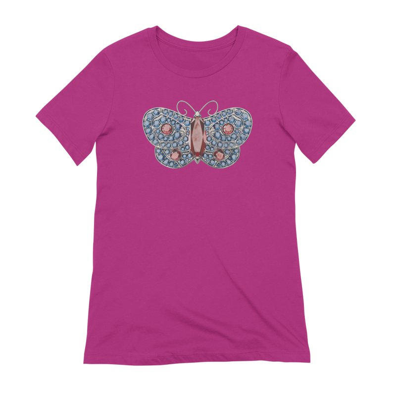 Enchanted Butterfly Women's Extra Soft T-Shirt by Genius Design Lab's Artist Shop