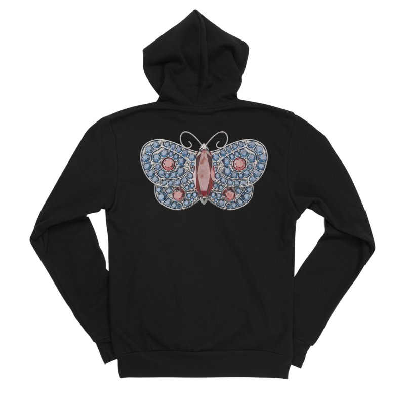 Enchanted Butterfly Men's Zip-Up Hoody by Genius Design Lab's Artist Shop