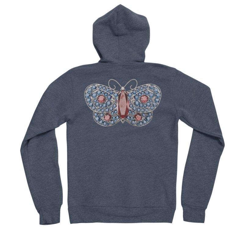 Enchanted Butterfly Women's Sponge Fleece Zip-Up Hoody by Genius Design Lab's Artist Shop
