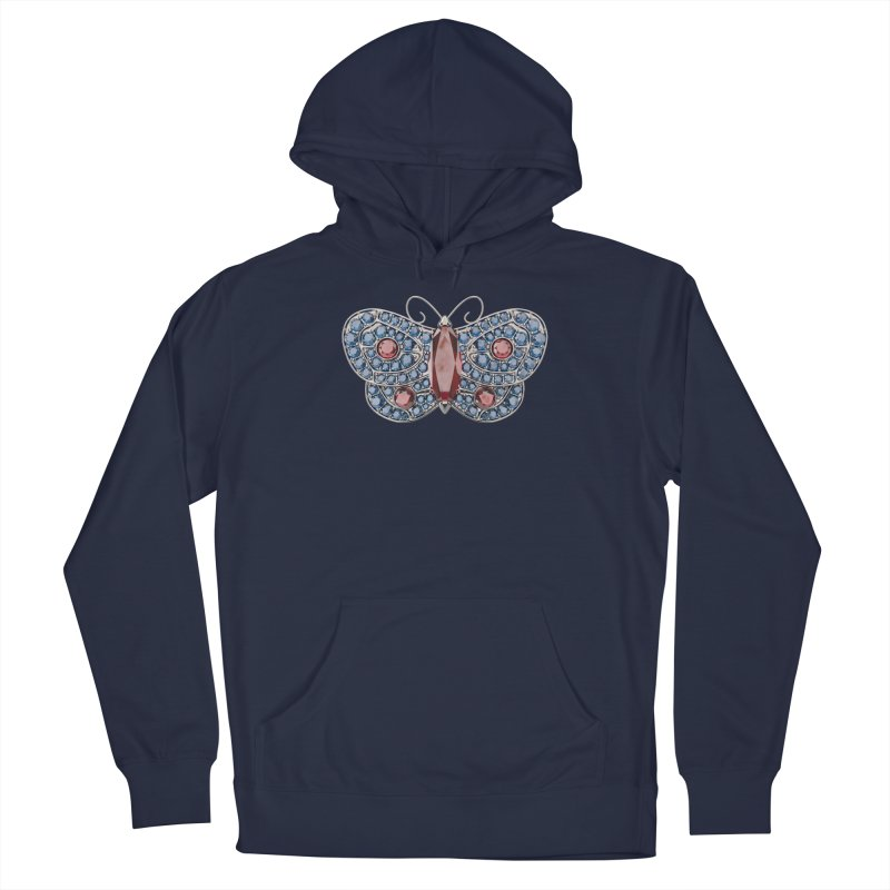 Enchanted Butterfly Men's French Terry Pullover Hoody by Genius Design Lab's Artist Shop