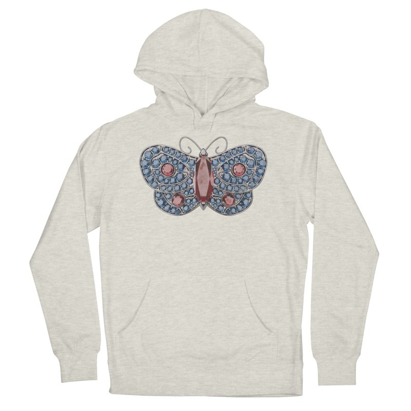 Enchanted Butterfly Women's French Terry Pullover Hoody by Genius Design Lab's Artist Shop