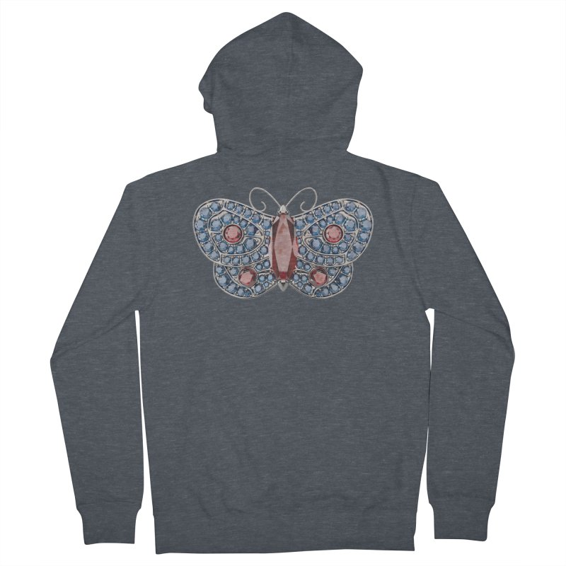 Enchanted Butterfly Women's Zip-Up Hoody by Genius Design Lab's Artist Shop