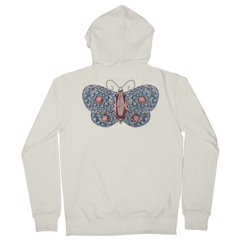 Enchanted Butterfly Women's French Terry Zip-Up Hoody by Genius Design Lab's Artist Shop