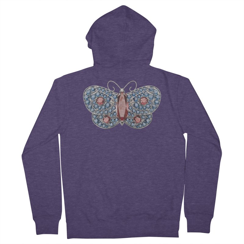 Enchanted Butterfly Men's French Terry Zip-Up Hoody by Genius Design Lab's Artist Shop