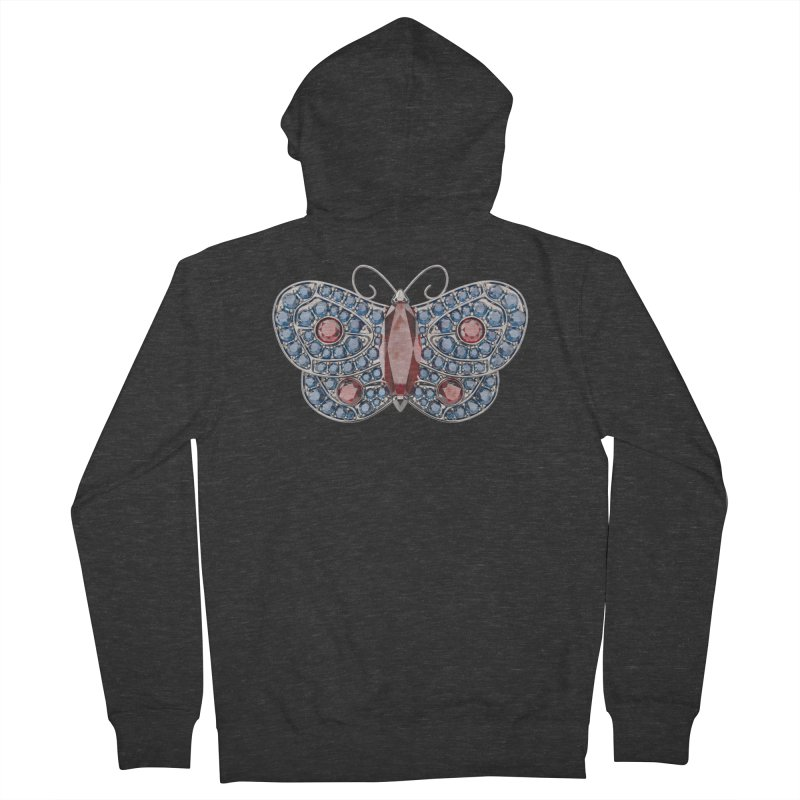 Enchanted Butterfly Men's Zip-Up Hoody by Genius Design Lab's Artist Shop