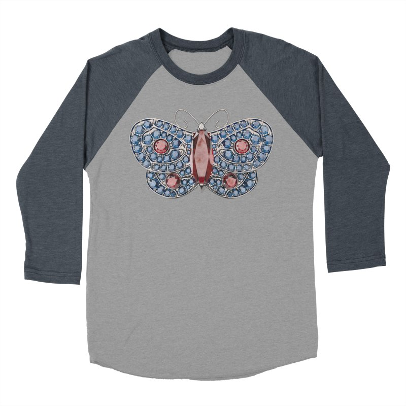 Enchanted Butterfly Women's Baseball Triblend Longsleeve T-Shirt by Genius Design Lab's Artist Shop