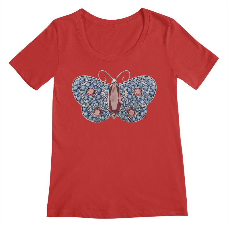Enchanted Butterfly Women's Regular Scoop Neck by Genius Design Lab's Artist Shop