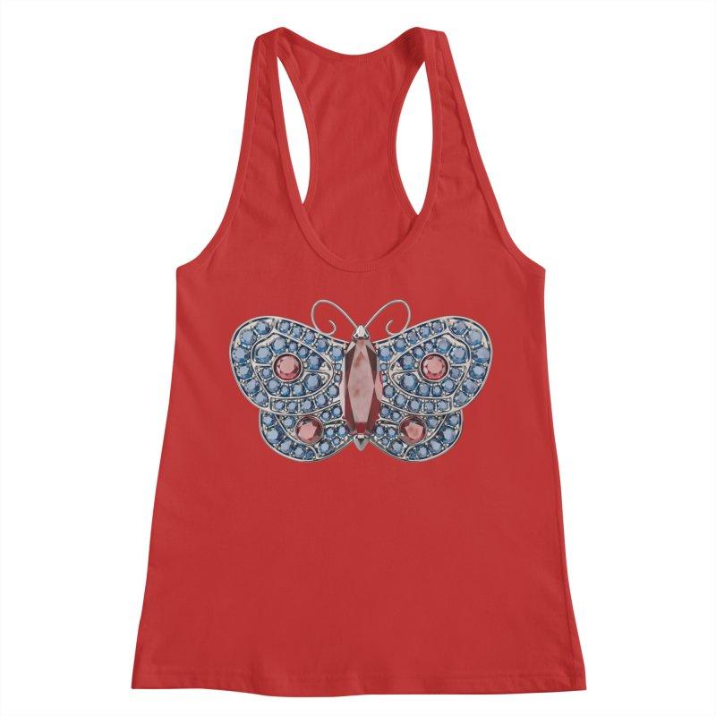 Enchanted Butterfly Women's Racerback Tank by Genius Design Lab's Artist Shop