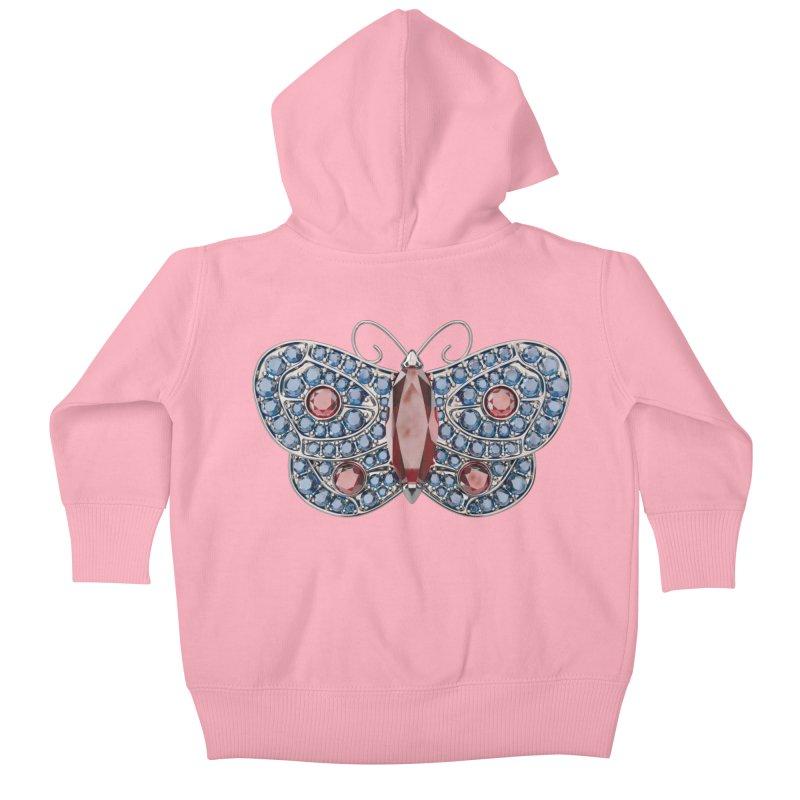 Enchanted Butterfly Kids Baby Zip-Up Hoody by Genius Design Lab's Artist Shop