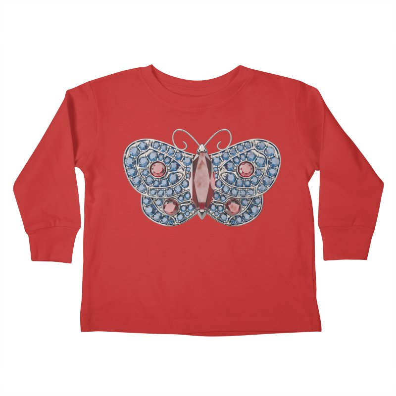 Enchanted Butterfly Kids Toddler Longsleeve T-Shirt by Genius Design Lab's Artist Shop