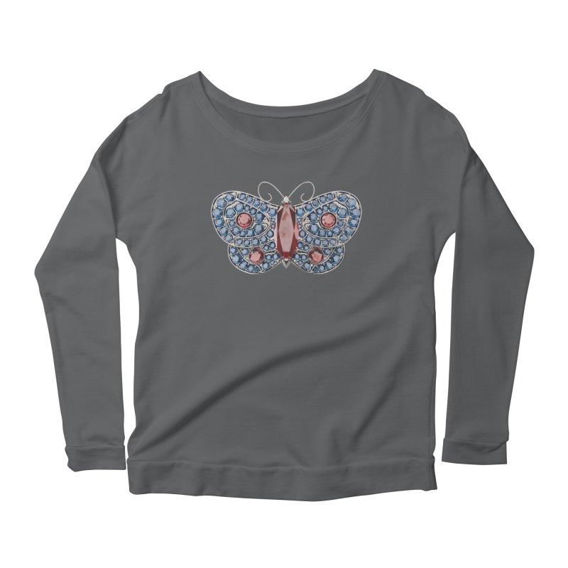 Enchanted Butterfly Women's Scoop Neck Longsleeve T-Shirt by Genius Design Lab's Artist Shop