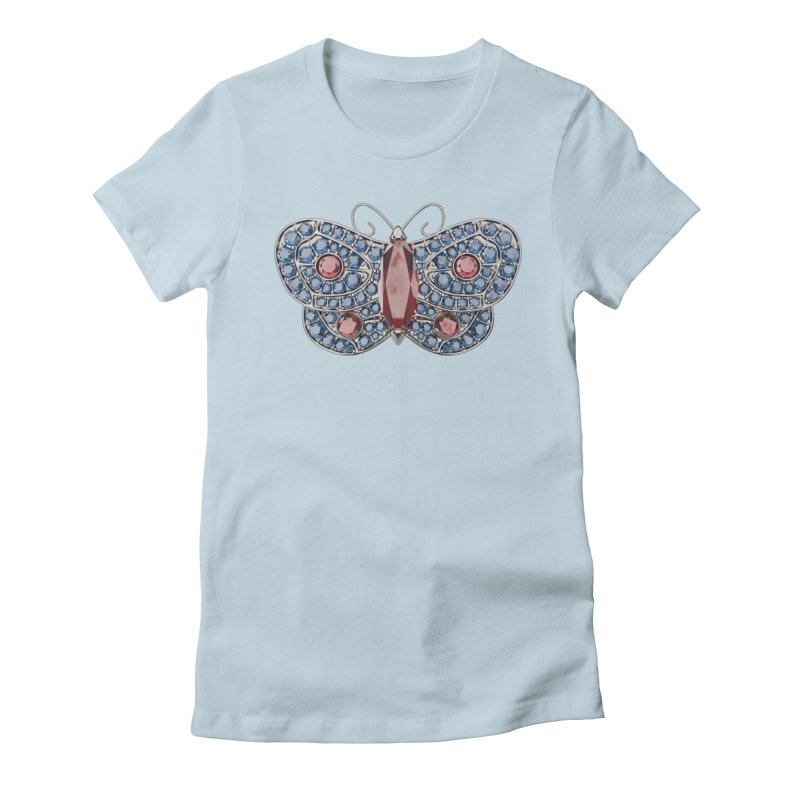 Enchanted Butterfly Women's Fitted T-Shirt by Genius Design Lab's Artist Shop