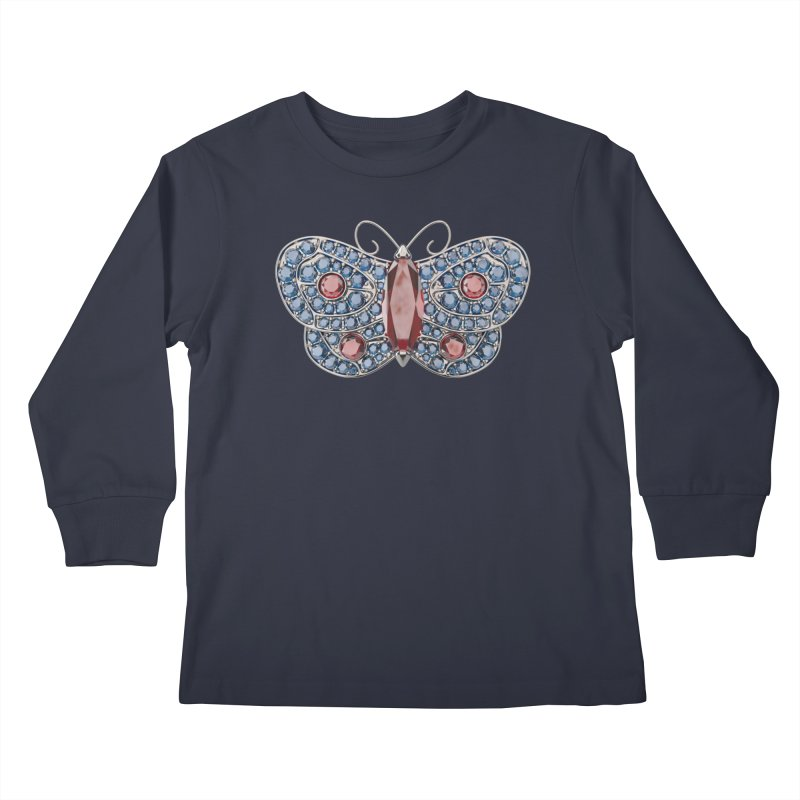 Enchanted Butterfly Kids Longsleeve T-Shirt by Genius Design Lab's Artist Shop