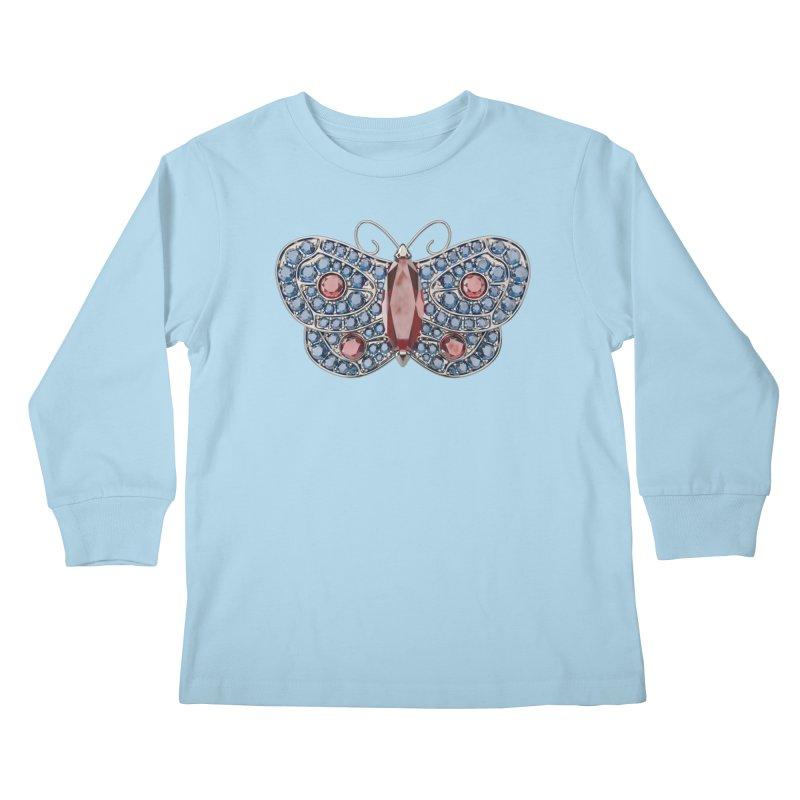 Enchanted Butterfly Kids Longsleeve T-Shirt by Genius Design Lab's Artist Shop