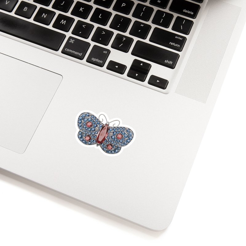 Enchanted Butterfly Accessories Sticker by Genius Design Lab's Artist Shop