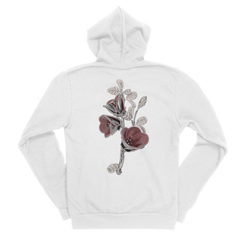 Enchanted Flower I Men's Sponge Fleece Zip-Up Hoody by Genius Design Lab's Artist Shop