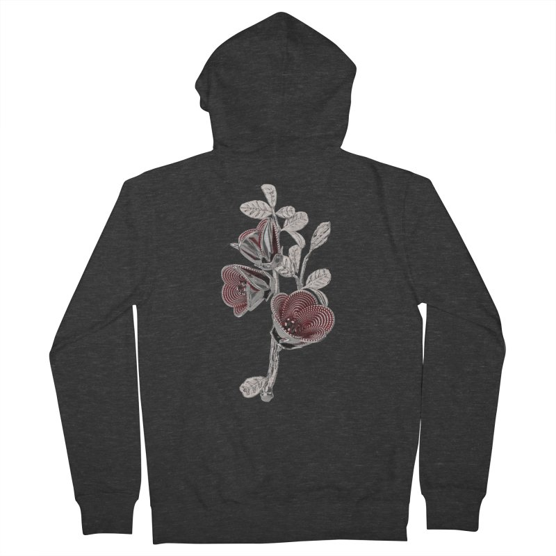 Enchanted Flower I Men's French Terry Zip-Up Hoody by Genius Design Lab's Artist Shop