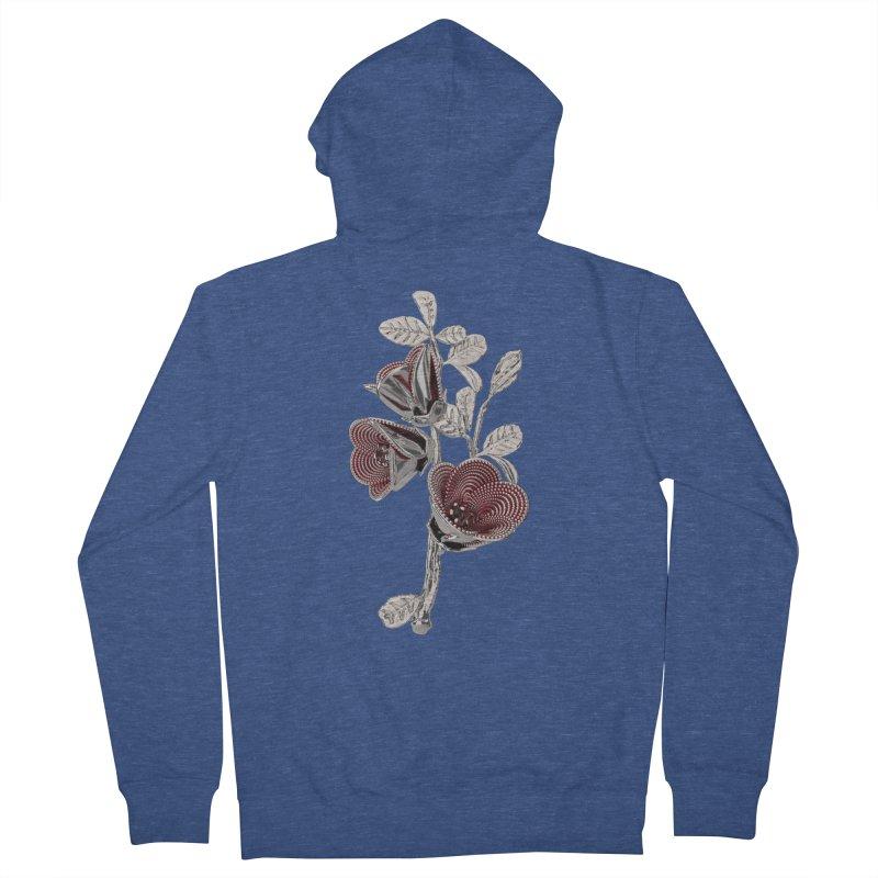 Enchanted Flower I Men's Zip-Up Hoody by Genius Design Lab's Artist Shop