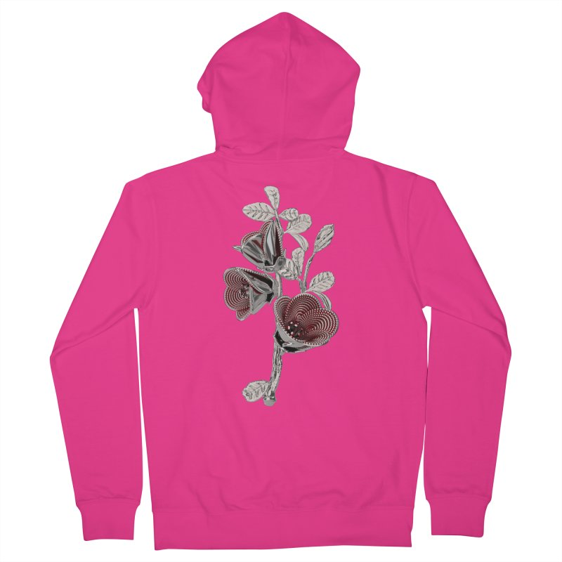Enchanted Flower I Men's Zip-Up Hoody by Genius Design Lab's Artist Shop