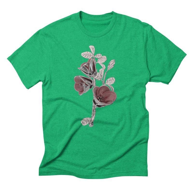 Enchanted Flower I Men's Triblend T-Shirt by Genius Design Lab's Artist Shop