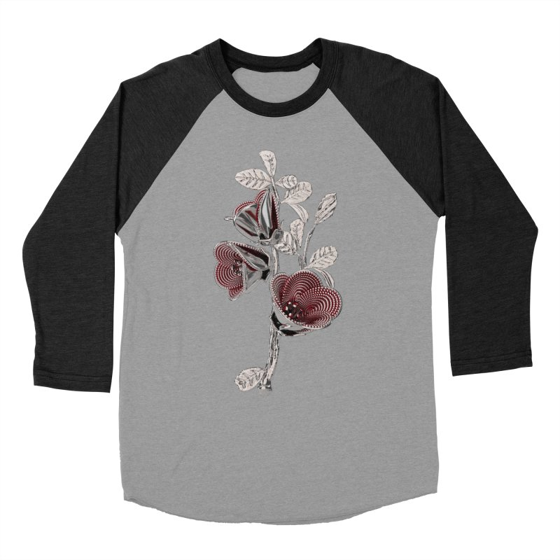 Enchanted Flower I Women's Baseball Triblend Longsleeve T-Shirt by Genius Design Lab's Artist Shop