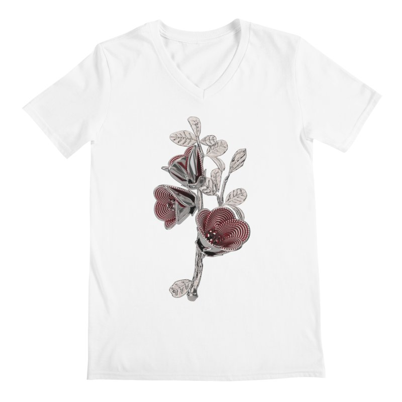 Enchanted Flower I Men's V-Neck by Genius Design Lab's Artist Shop