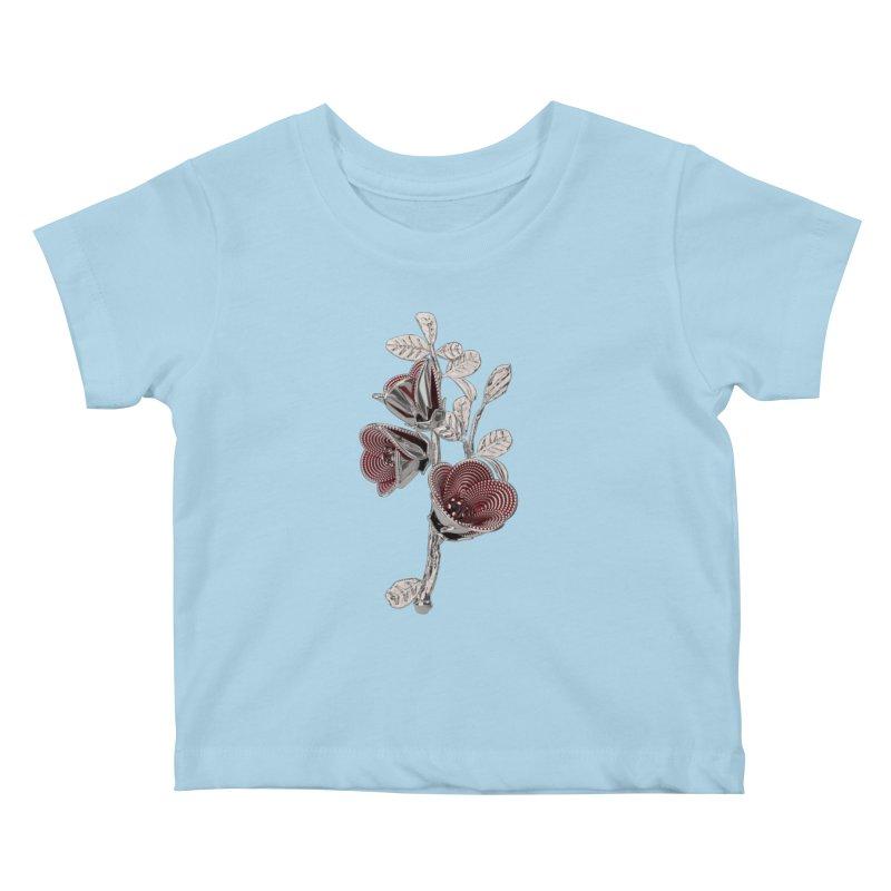 Enchanted Flower I Kids Baby T-Shirt by Genius Design Lab's Artist Shop