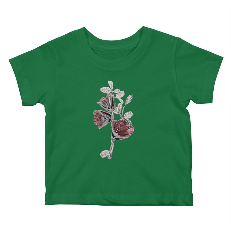 Enchanted Flower I Kids Baby T-Shirt by Genius Design Lab's Artist Shop