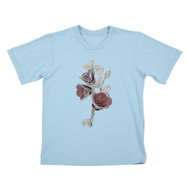 Enchanted Flower I Kids T-Shirt by Genius Design Lab's Artist Shop