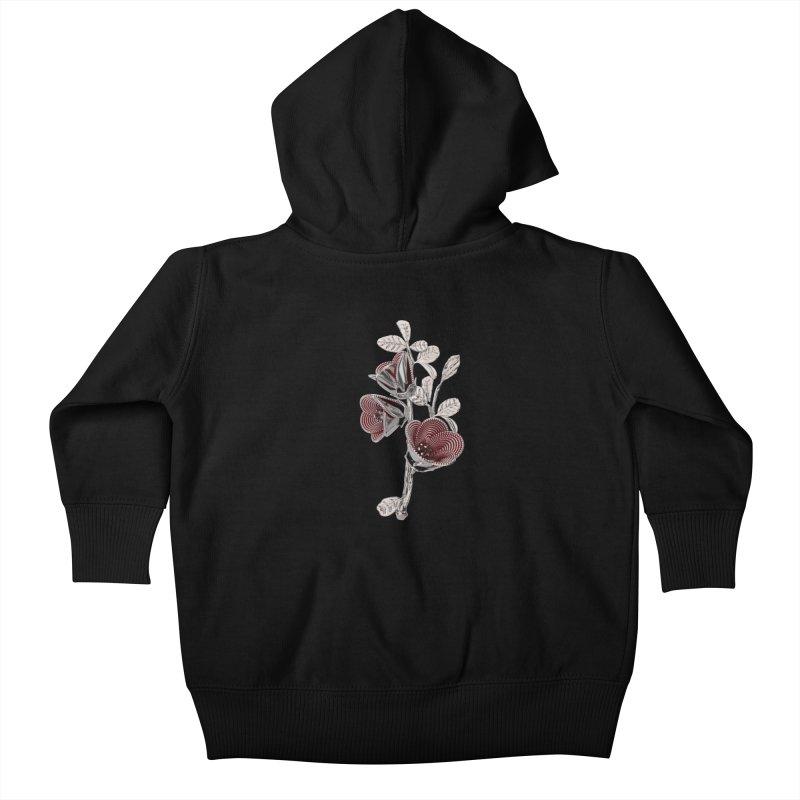 Enchanted Flower I Kids Baby Zip-Up Hoody by Genius Design Lab's Artist Shop
