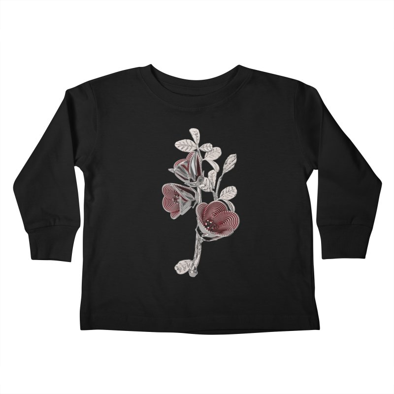 Enchanted Flower I Kids Toddler Longsleeve T-Shirt by Genius Design Lab's Artist Shop