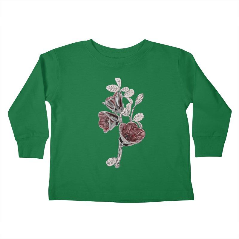 Enchanted Flower I Kids Toddler Longsleeve T-Shirt by Genius Design Lab's Artist Shop