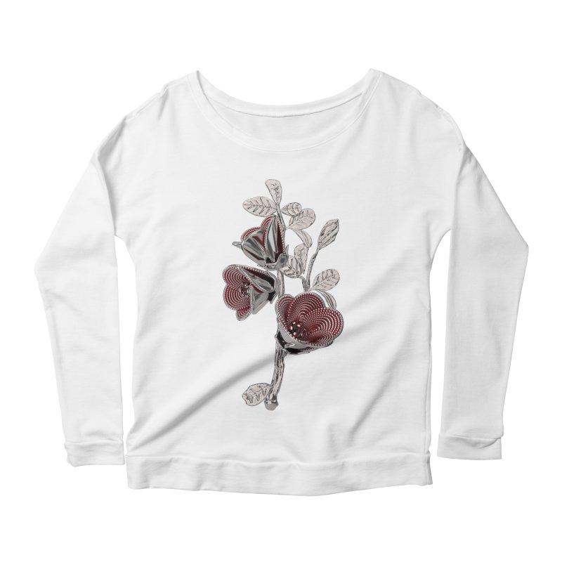 Enchanted Flower I Women's Scoop Neck Longsleeve T-Shirt by Genius Design Lab's Artist Shop