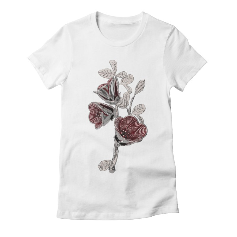Enchanted Flower I Women's Fitted T-Shirt by Genius Design Lab's Artist Shop